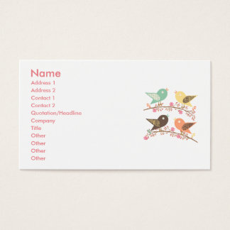Four birds business card