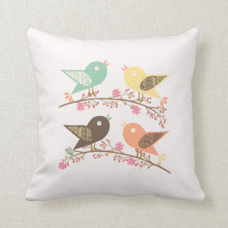 Four birds cushion