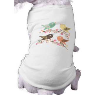 Four birds sleeveless dog shirt