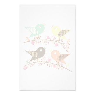 Four birds stationery