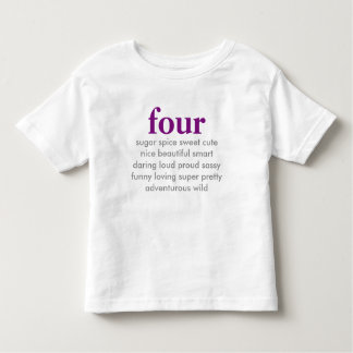 four birthday shirt