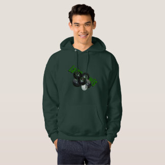 Four Black Lawn Bowls And Logo, Hoodie