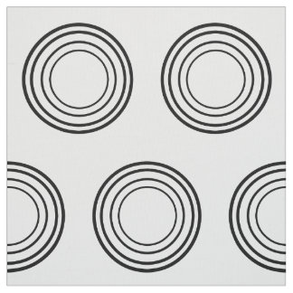 Four Black Rings on White Fabric