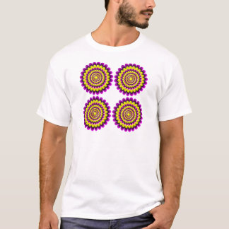 Four blooming flowers optical illusion T-Shirt