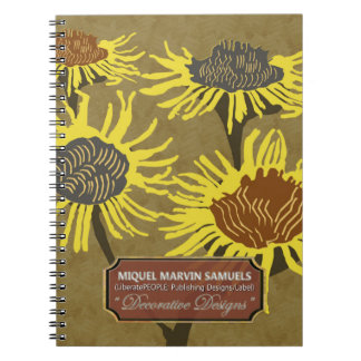 Four Blossoms Decorative Evening Modern Notebook