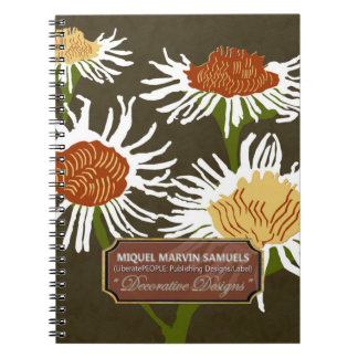 Four Blossoms Decorative Night Modern Notebook
