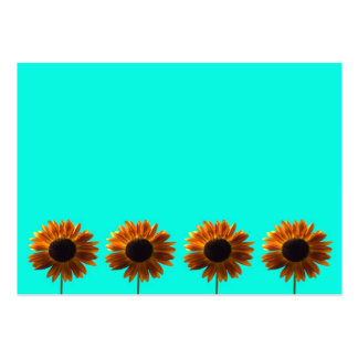 Four Bold Sunflowers Business Card Templates