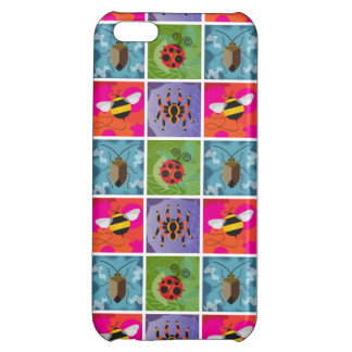 Four Bugs Pattern Case For iPhone 5C
