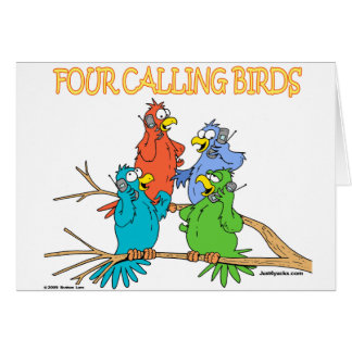 Four Calling Birds Card