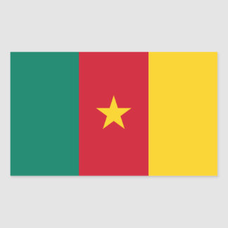 FOUR Cameroon National Flag Rectangular Sticker