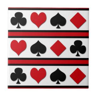 Four card suits ceramic tile