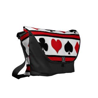 Four card suits courier bag