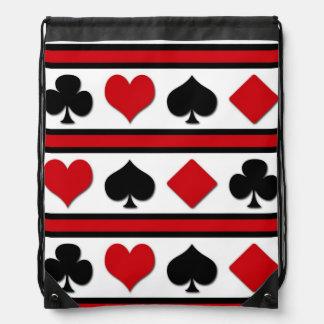 Four card suits drawstring bag