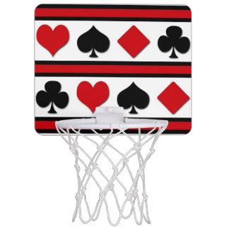 Four card suits mini basketball hoop