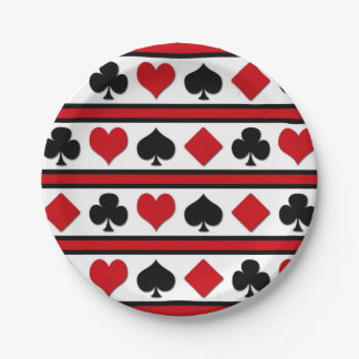 Four card suits paper plate