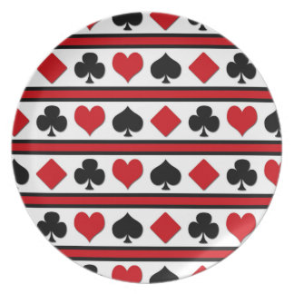 Four card suits plate