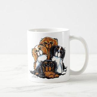 Four Cavalier King Charles Spaniels Coffee Mug