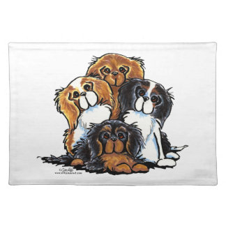 Four Cavalier King Charles Spaniels Place Mats