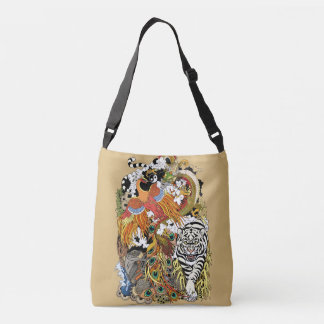 four celestial animals crossbody bag