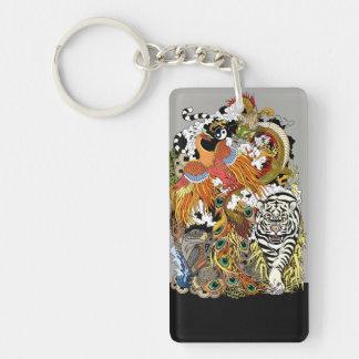 four celestial animals key ring