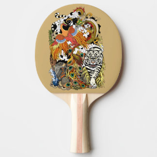 four celestial animals ping pong paddle