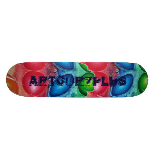 Four Chakras Red Blue Green Orange Skateboard