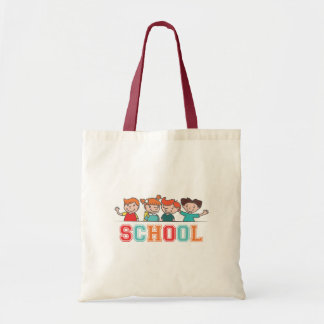 Four Children and the Word School Tote Bag