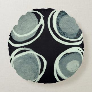 Four Circles Round Cushion