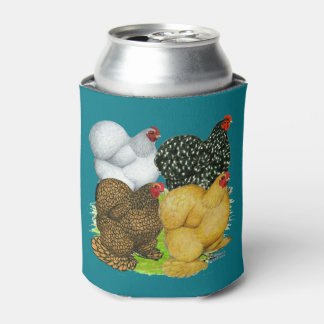 Four Cochin Hens Can Cooler