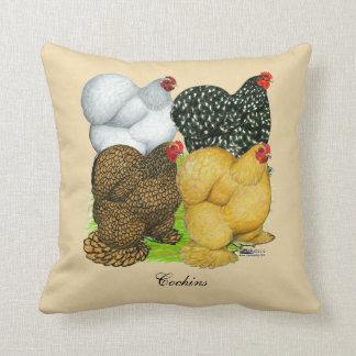 Four Cochin Hens Cushion