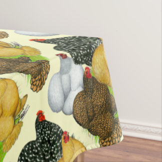 Four Cochin Hens Tablecloth