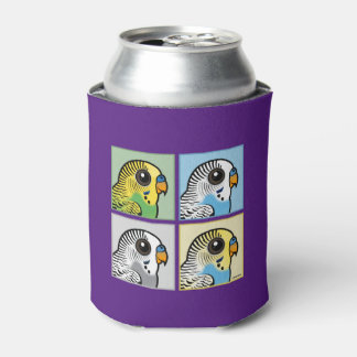 Four Color Budgies Can Cooler