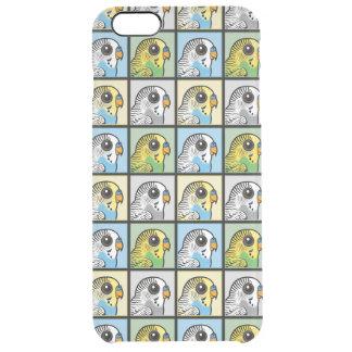 Four Color Budgies Clear iPhone 6 Plus Case