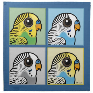 Four Color Budgies Napkin
