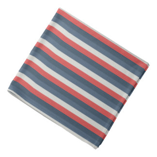 Four Color Combo - Red Gray Blue Dark Blue Bandana