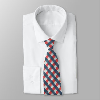 Four Color Combo - Red Gray White Blue Dark Blue Tie