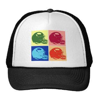 Four Color Pop Art Football Helmet Cap