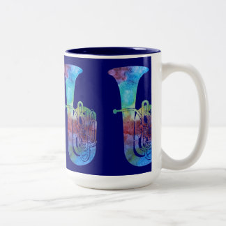 Four Color-washed Tubas Coffee Mug