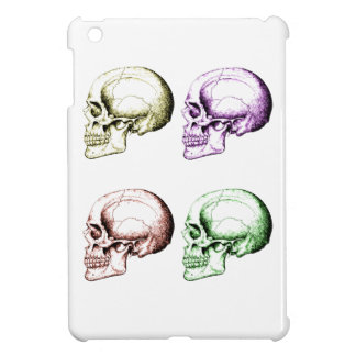 Four colored human skulls iPad mini covers