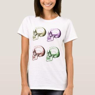 Four colored human skulls T-Shirt