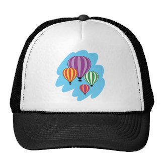 Four Colorful Hot Air Balloons Trucker Hats