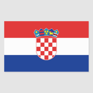 FOUR Croatia National Flag Rectangular Sticker