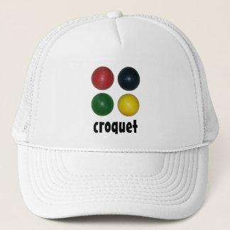 Four Croquet Balls Trucker Hat