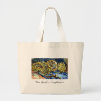 Four Cut Sunflowers by Van Gogh Large Tote Bag