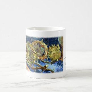 Four Cut Sunflowers by Van Gogh Coffee Mug