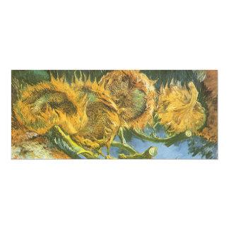 Four Cut Sunflowers by Vincent van Gogh, Fine Art Card