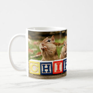 four cute chipmunks basic white mug