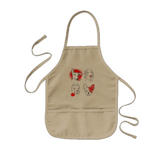 Four Cute Dogs Kids' Apron