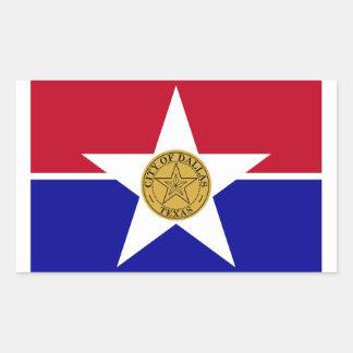 FOUR Dallas Flag Rectangular Sticker