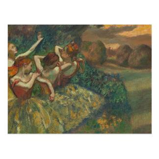 Four Dancers by Degas Postcard